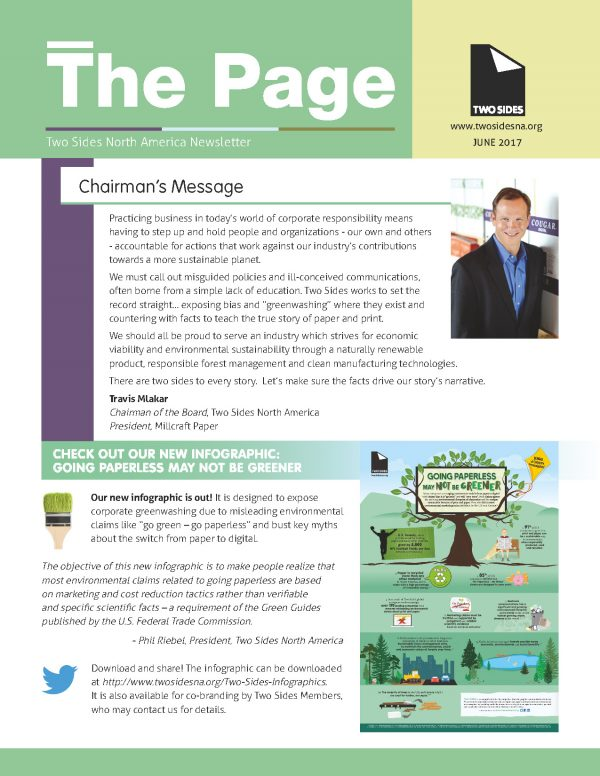 cover of The Page newsletter