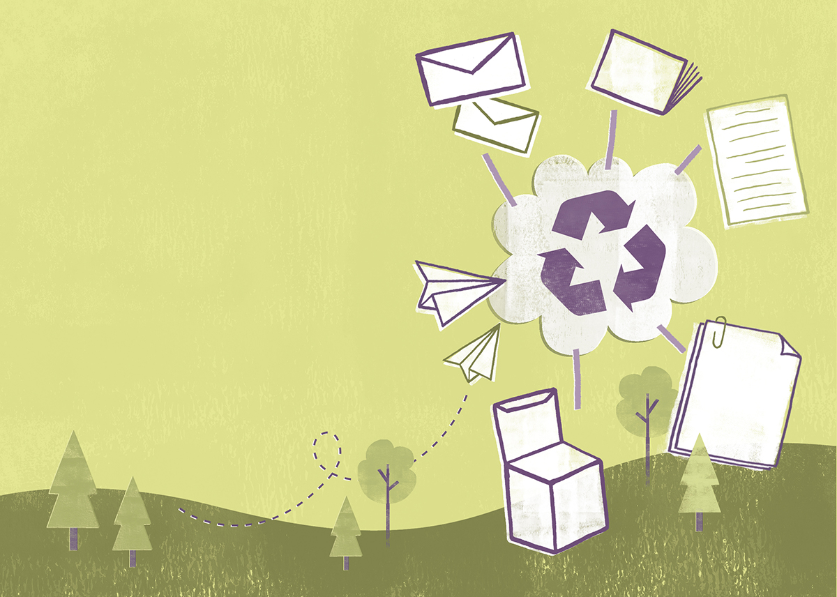 paper products being recycled