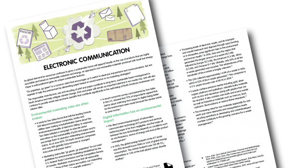 Get the Facts on Renewable Energy, Carbon Footprint and Electronic Communication – Two Sides Releases New Fact Sheets