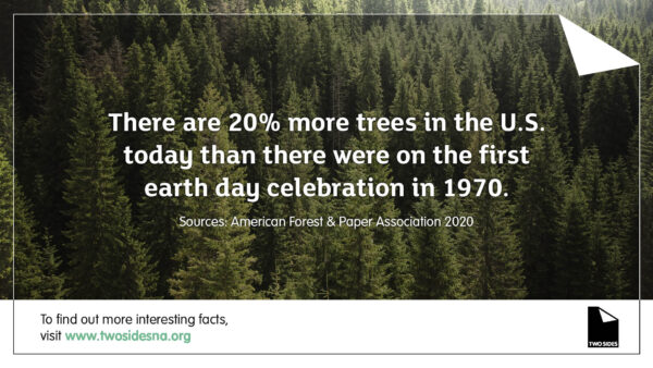 Paper Facts #1 – There are 20% more trees in the U.S. today than there were in 1970