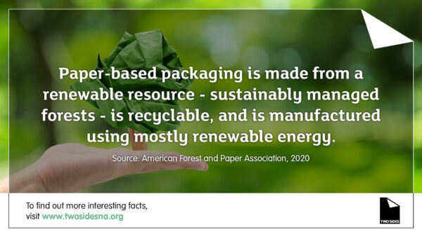 Paper Facts #8 – Paper-based packaging is renewable and recyclable
